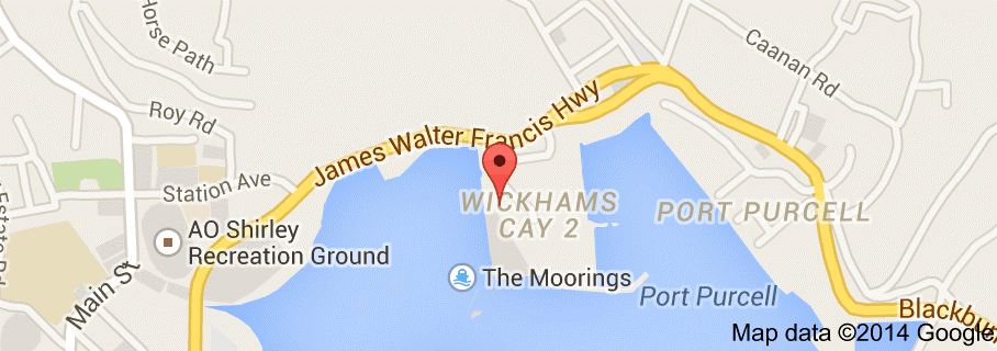 The Moordings, BVI Location