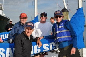 Ed Baird, second from left, with his crew
