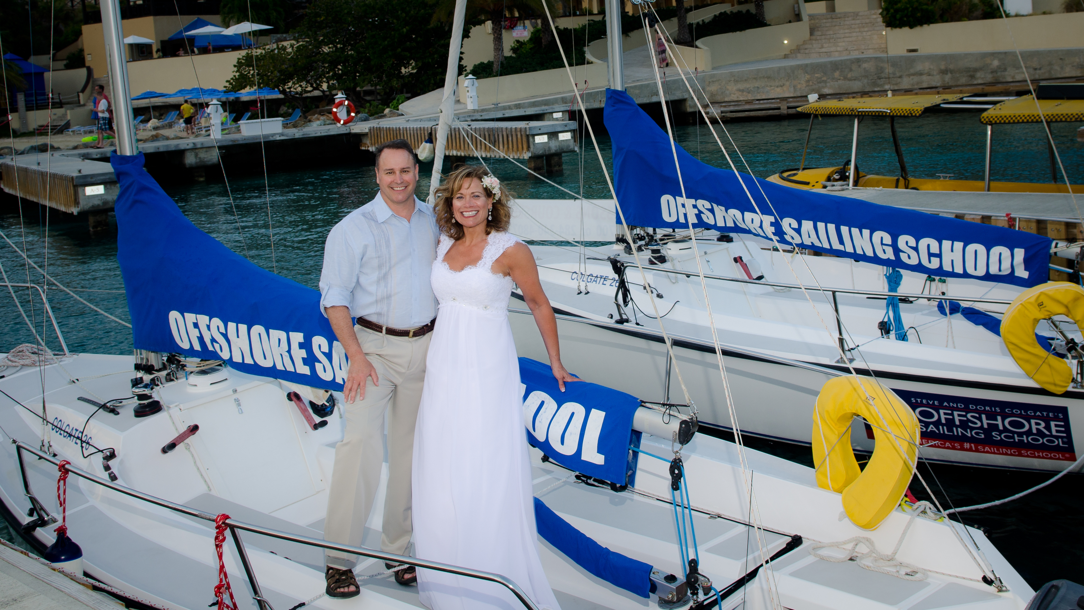 Our Offshore Sailing School Wedding