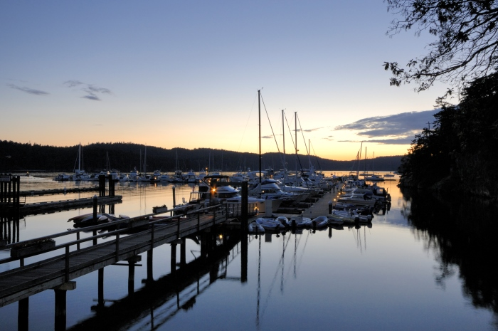Marina on South Pender Island, Gulf Islands, British Columbia, Canada
