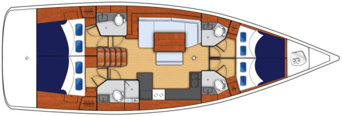 The Moorings 48.4 Deck Plan