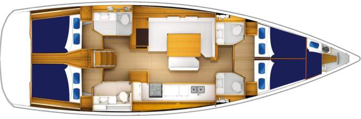 Moorings 51.4 Deck Plan