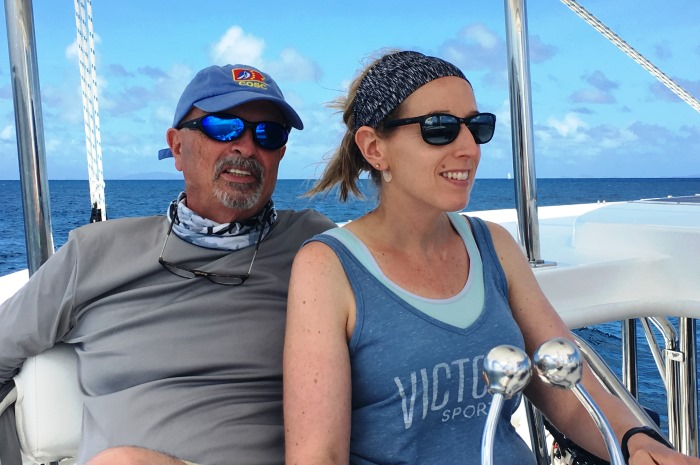 Couple-at-helm